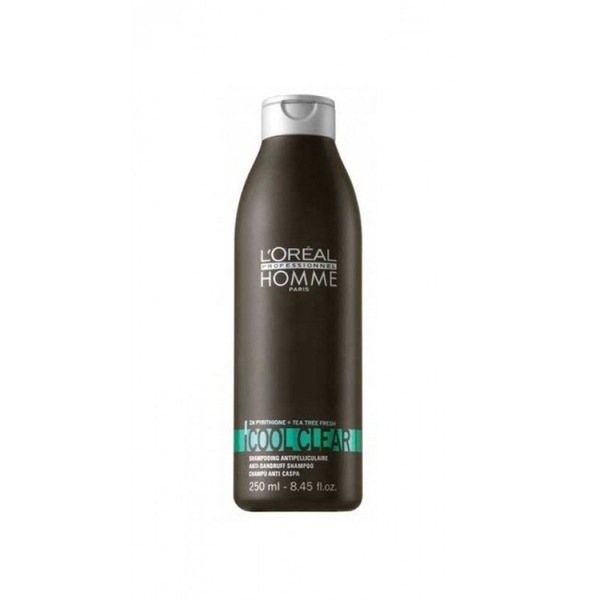 Loreal - Loreal Homme Cool Clear Erkeklere Özel Kepek Önleyici Şampuan 250 ml