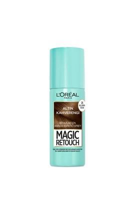 Loreal - Loreal Magic Retouch Beyaz Kapatıcı Sprey Altın Kahverengi 75 ml