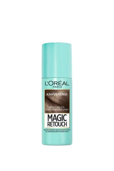 Loreal - Loreal Magic Retouch Beyaz Kapatıcı Sprey Kahverengi 75 ml