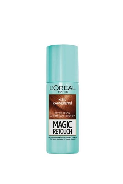 Loreal - Loreal Magic Retouch Beyaz Kapatıcı Sprey Kızıl Kahverengi 75 ml