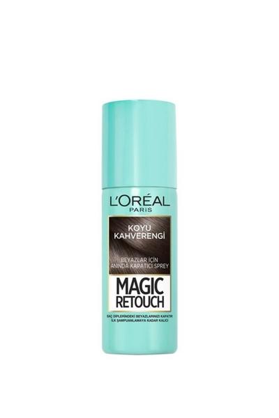 Loreal - Loreal Magic Retouch Beyaz Kapatıcı Sprey Koyu Kahverengi 75 ml