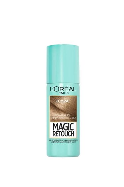 Loreal - Loreal Magic Retouch Beyaz Kapatıcı Sprey Kumral 75 ml