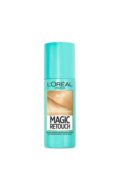 Loreal - Loreal Magic Retouch Beyaz Kapatıcı Sprey Sarı 75 ml