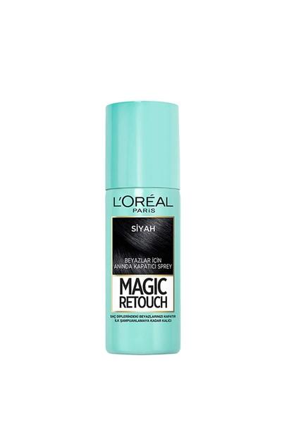 Loreal - Loreal Magic Retouch Beyaz Kapatıcı Sprey Siyah 75 ml