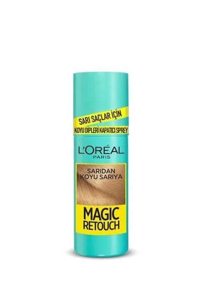 Loreal - Loreal Magic Retouch Koyu Dipleri Kapatıcı Sprey Sarıdan Koyu Sarıya 75 ml