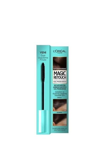 L'Oreal Paris - Loreal Magic Retouch Saç Maskarası Koyu Kahverengi 8 ml