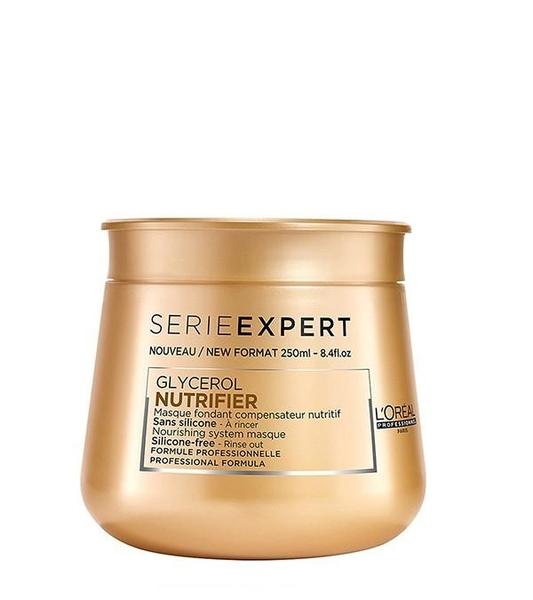 Loreal - Loreal Nutrifier Kuru Mat Saçlar İçin Besleyici ve Nemlendirici Maske 250 ml