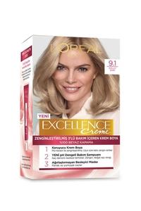 Loreal Paris Excellence Creme Saç Boyası 9.1 Küllü Sarı - Thumbnail