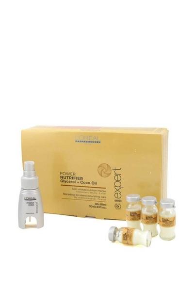 Loreal - Loreal Power Nutrifier Glycerol + Coco Oil Kuru Saçlar İçin Yoğun Besleyici Bakım 30x10 ml