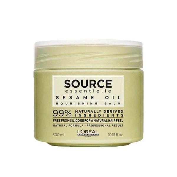 Loreal - Loreal Source Essentielle Kuru ve Dalgalı Saçlar İçin Susam Yağı İçerikli Besleyici Maske 300 ml