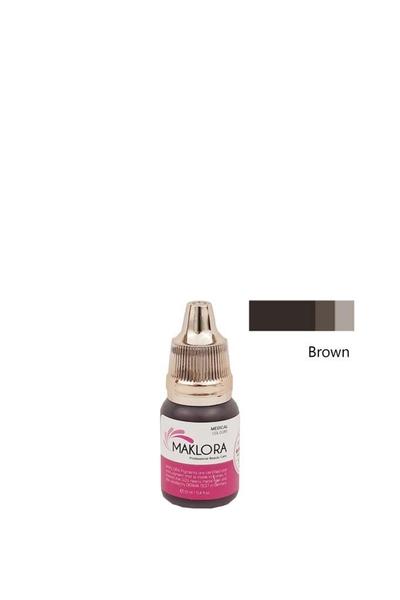 Maklora - Maklora Kalıcı Kaş Boyası Brown 12 ml