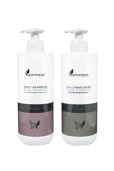 Native Base - Native Base Keratin Bakım Şampuanı + Keratin Kremi 500 ml