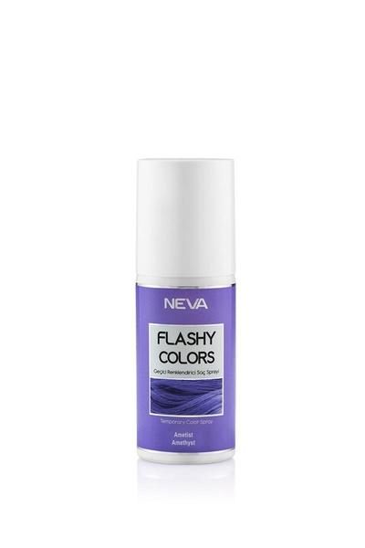 Diğer - Neva Flashy Colors Geçici Renklendirici Saç Spreyi Ametist 75 ml