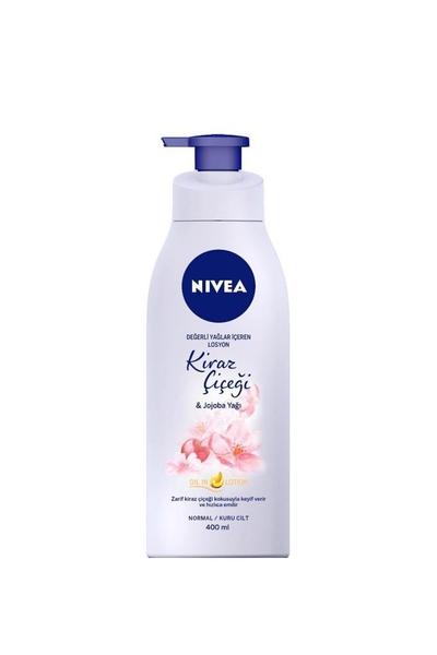Nivea - Nivea Kiraz Çiçeği & Jojoba Yağı Vücut Losyonu 400 ml