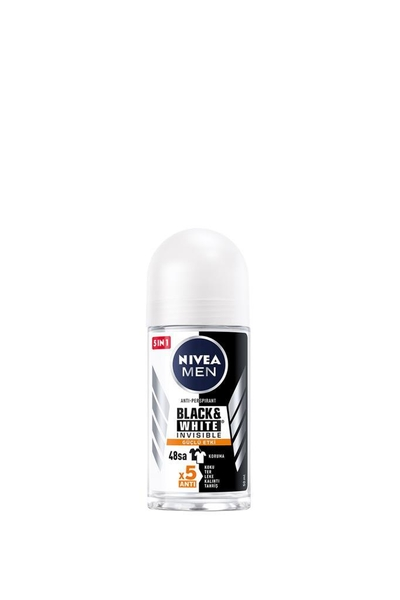 Nivea - Nivea Men Black & White Invisible Güçlü Etki Roll-On Derodorant 50 ml