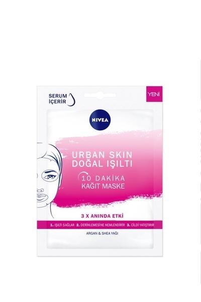 Nivea - Nivea Urban Skin Doğal Işıltı Kağıt Yüz Maskesi Argan & Shea Yağı