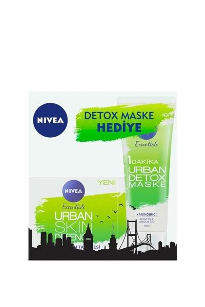 Nivea - Nivea Urban Skin Gündüz Kremi 50 ml + Urban Detox Maske 75 ml Hediye