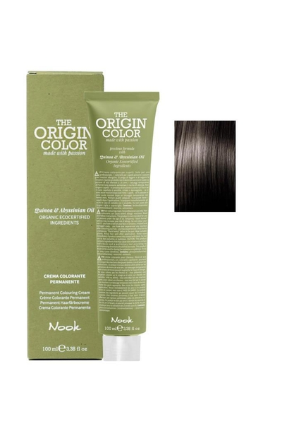 Nook - Nook The Origin Color Saç Boyası 6.1 Koyu Kumral Küllü 100 ml