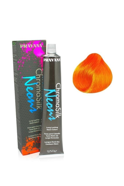 Pravana - Pravana Chroma Silk Neons Yarı Kalıcı Saç Boyası Neon Turuncu 90 ml