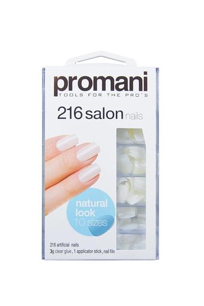 Promani - Promani 216 Salon Nails Doğal Görünümlü Takma Tırnak Kiti