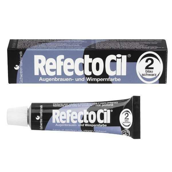 RefectoCil - RefectoCil Kaş ve Kirpik Boyası No:2 Mavi-Siyah 15 ml