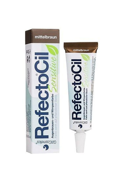 RefectoCil - RefectoCil Sensitive Kaş Ve Kirpik Boyası Orta Kahve 15 ml