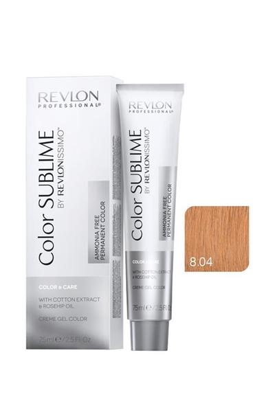 Revlon - Revlonissimo Color Sublime Color & Care 8.04 Açık Kumral Doğal Bakır