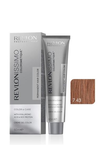 Revlon - Revlonissimo Colorsmetique Color & Care 7.43 Orta Altın Kumral Bakır
