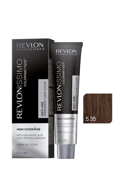 Revlon - Revlonissimo Colorsmetique High Coverage 5.35 Amber Kahvesi