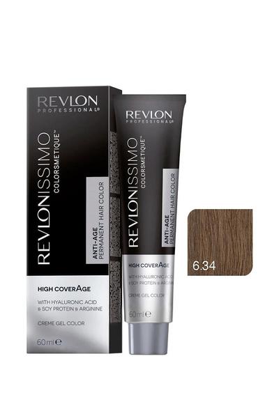 Revlon - Revlonissimo Colorsmetique High Coverage 6.34 Koyu Fındık Kumralı