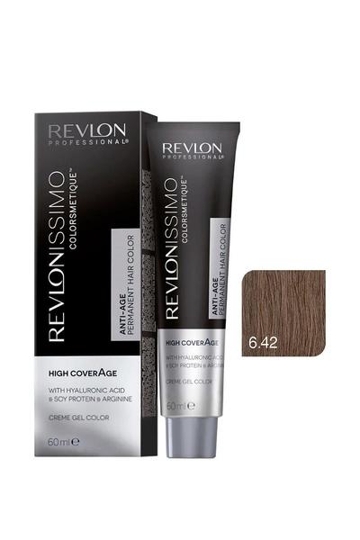 Revlon - Revlonissimo Colorsmetique High Coverage 6.42 Orta İnce Kestane Kumralı