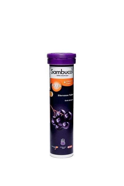 Sambucol - Sambucol Plus Kara Mürver + C Vitamini Çinko Takviye Edici Gıda 15 Tablet