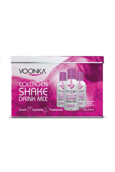 Voonka - Voonka Collagen Shake Drink Mix Takviye Edici Gıda 15x50 ml