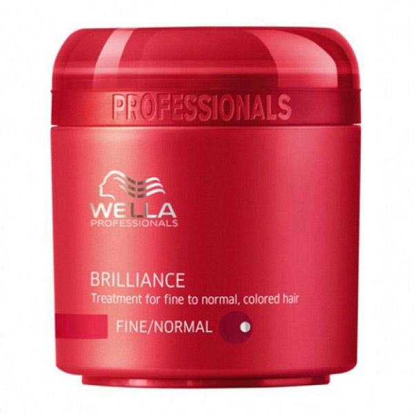 Wella - Wella Brilliance İnce Telli/Normal Boyalı Saçlar İçin Maske 150ml