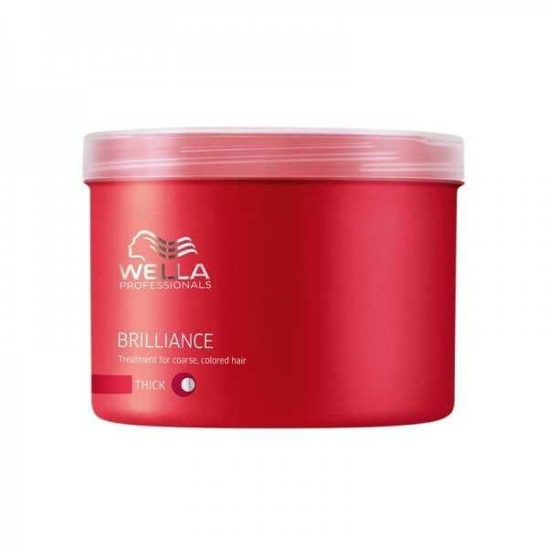Wella - Wella Brilliance Kalın Telli Boyalı Saçlar İçin Maske 500ml