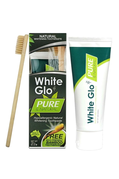 White Glo - White Glo Pure Natural Beyazlatıcı Diş Macunu 85 ml